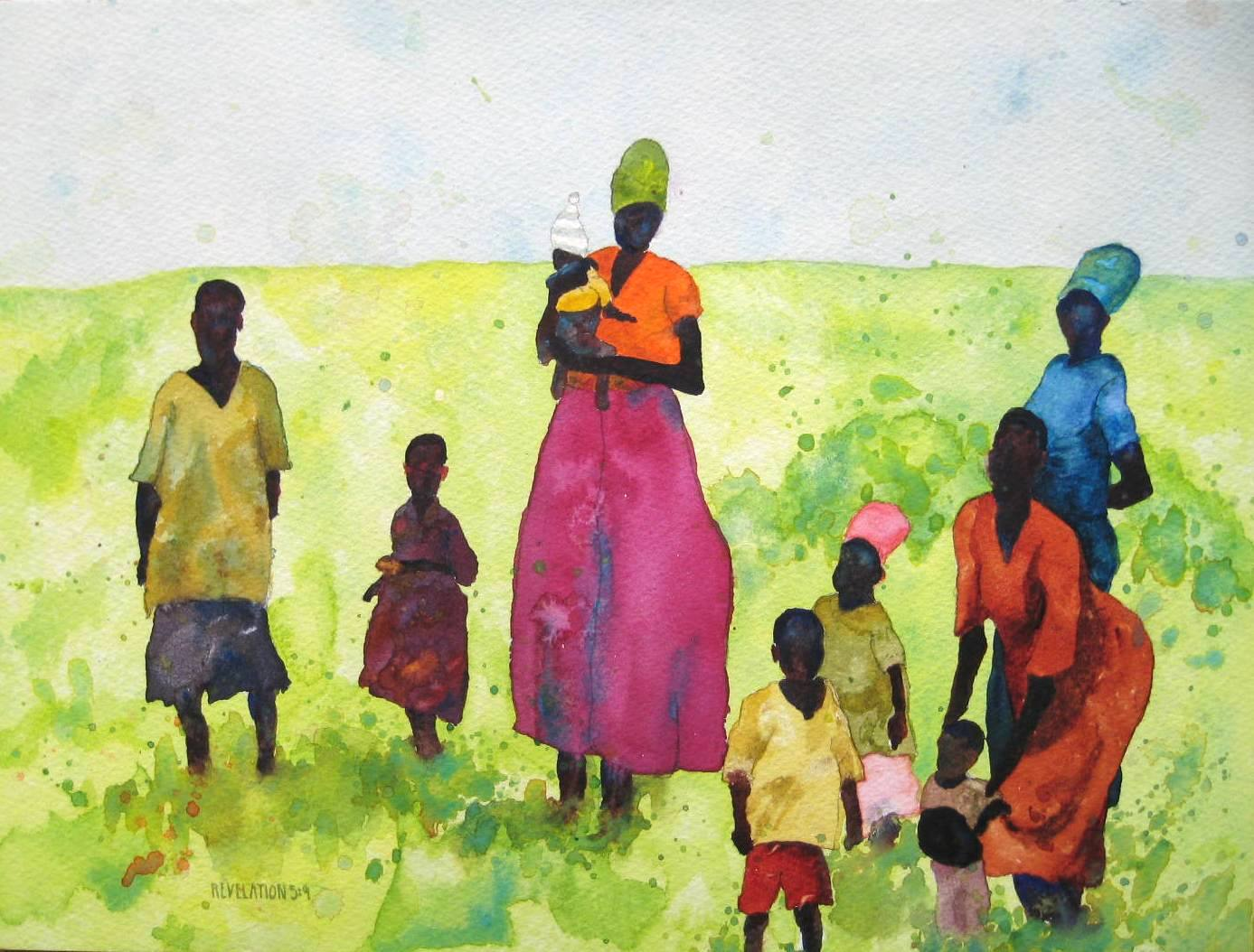 African Woman and Children | Sandi Hester