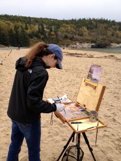 painting bh beach