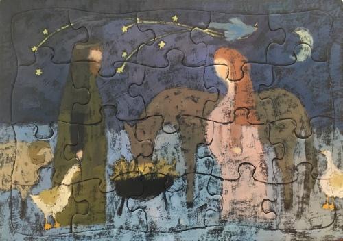 Sandi Hester, oil, puzzle