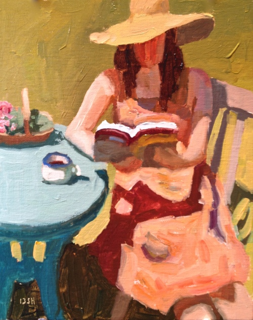 Sandi Hester, oil, self portrait