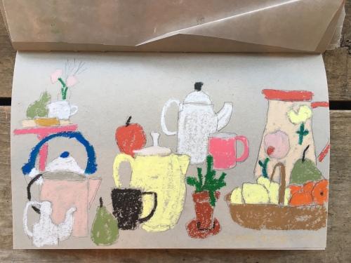 Sandi Hester, oil pastel