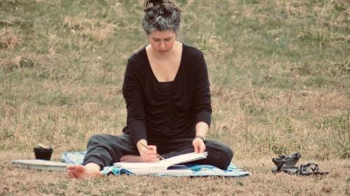 Sandi Hester, plein air sketching